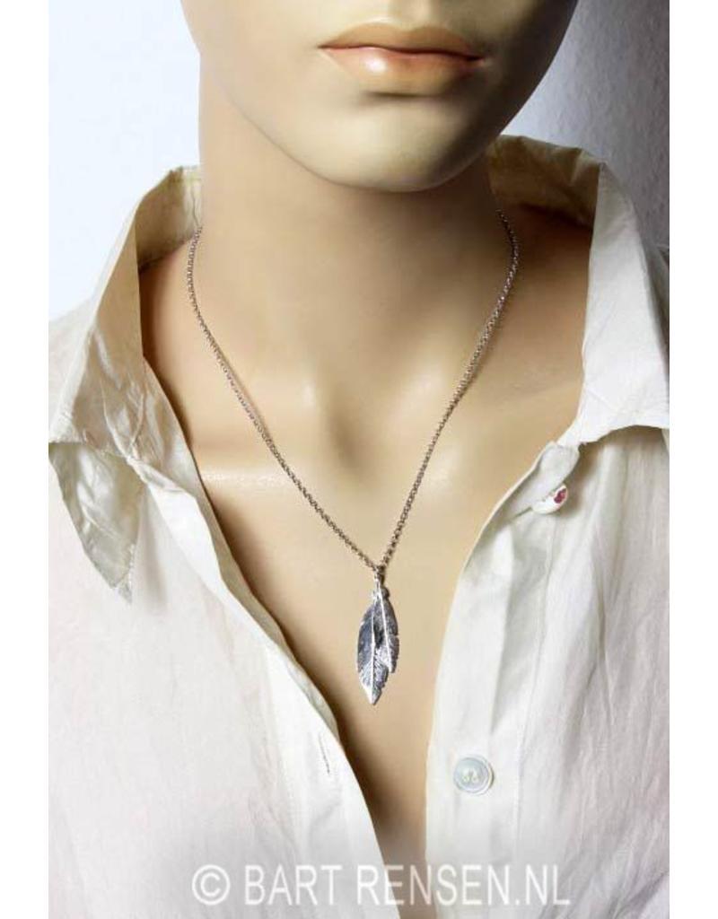 Veer hanger met ketting - echt zilver