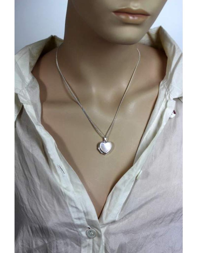 Medaillon met parelmoer - echt zilver
