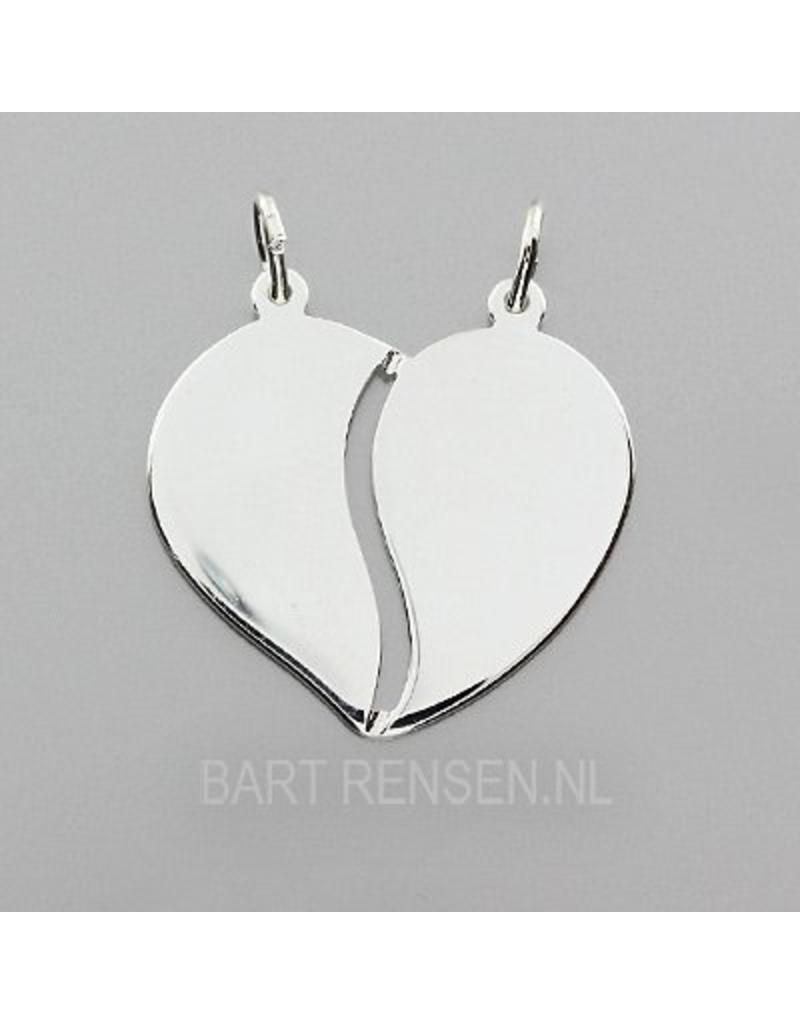 Hart hanger - echt zilver