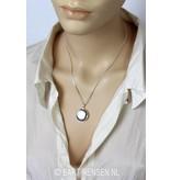 Medallion pendant - sterling silver