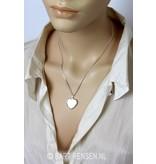 Heart medallion - sterling silver