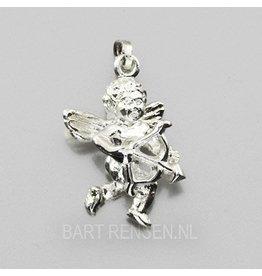 Cupid pendant - silver