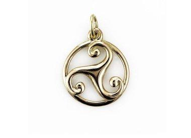 Golden Celtic pendants