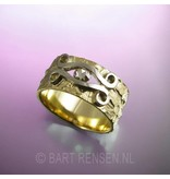 Golden Ring with diamond