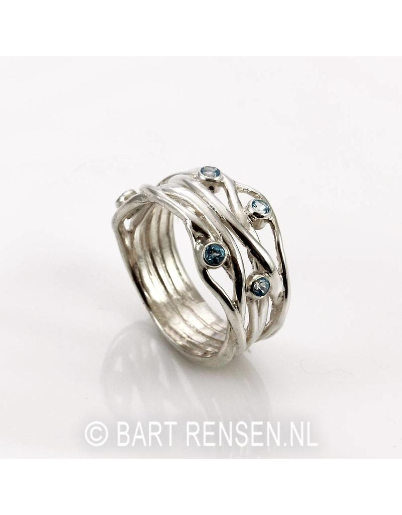Ring with Topaz - sterling silver