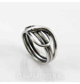 Zilveren Slangen ring