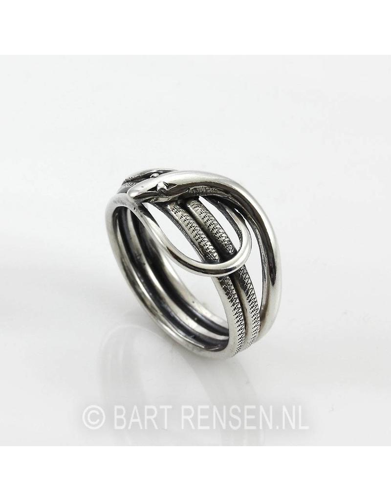 Snakes ring - sterling  silver