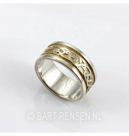 Keltische Ring - zilver - verguld