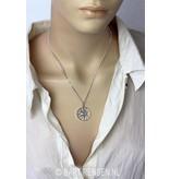 Ash pendant Sun - sterlingl silver