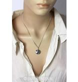 Ash pendant Yin Yang - sterling silver