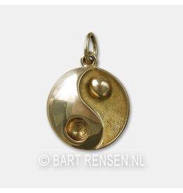 Yin Yang Herdenkings hanger - goud
