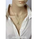 Ash pendant Yin Yang - 14 carat gold