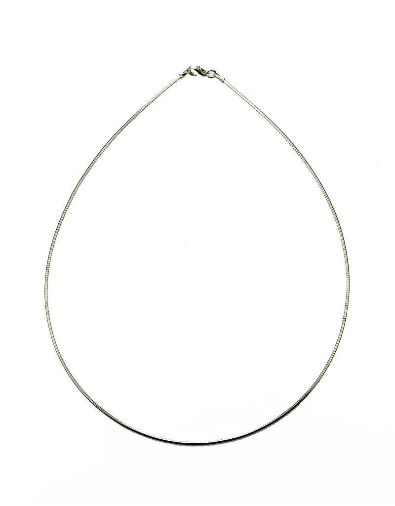 Omega chain- sterling silver