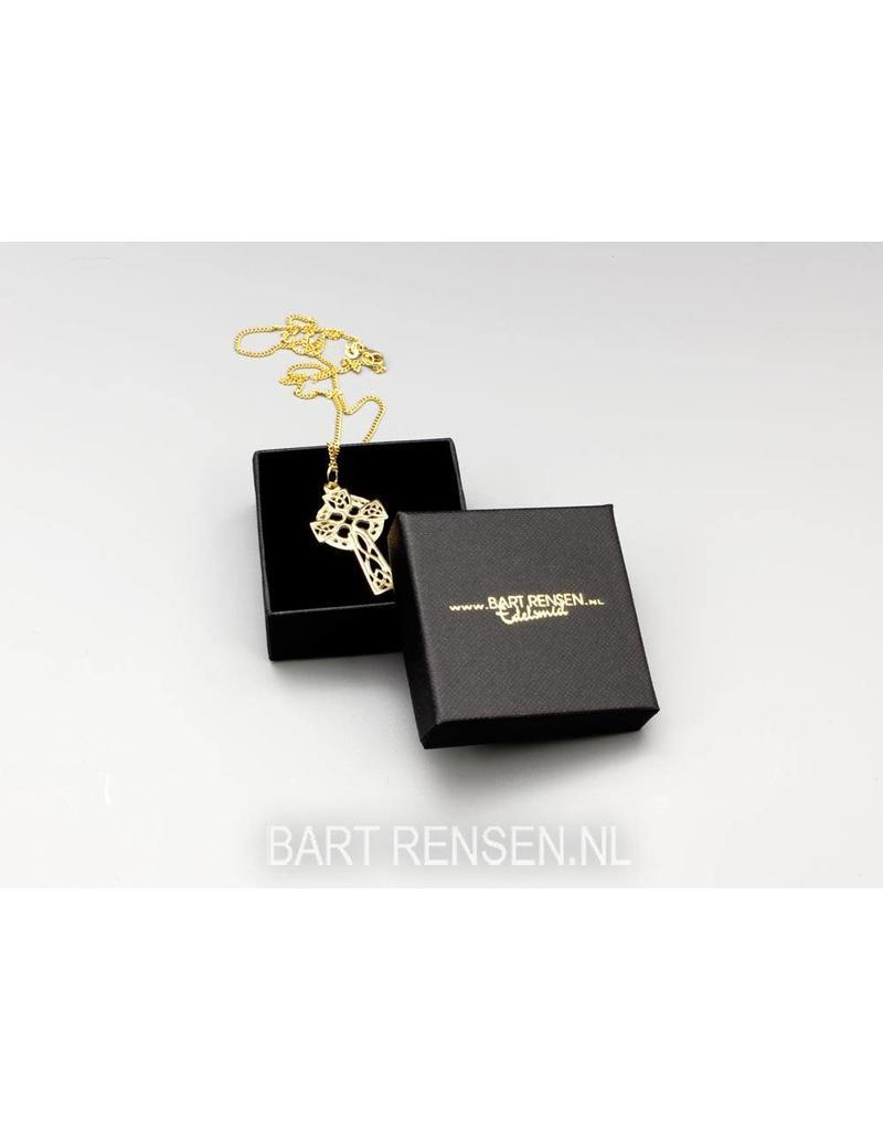 Cardboard box pendant with logo print.