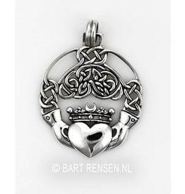 Ierse Claddagh hanger - zilver