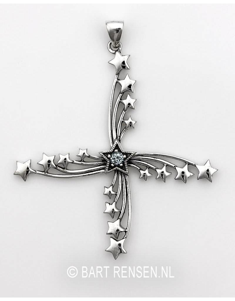 Sterren hanger - echt zilver