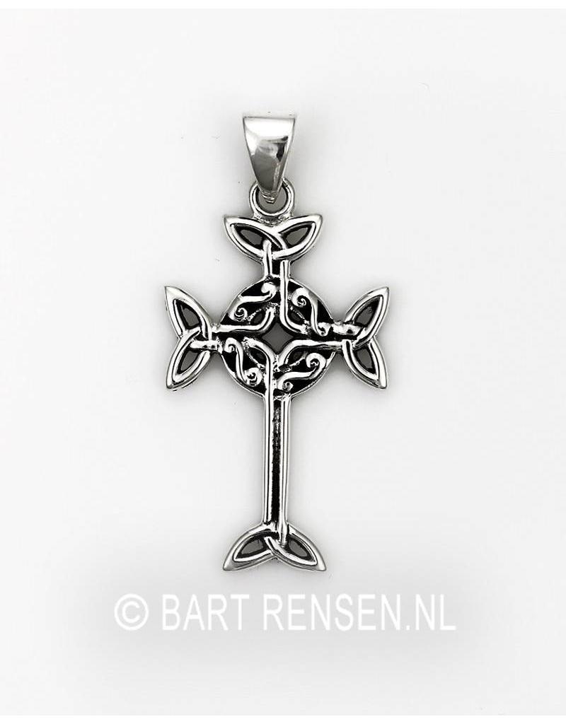 Keltisch Kruis hangertje - echt zilver