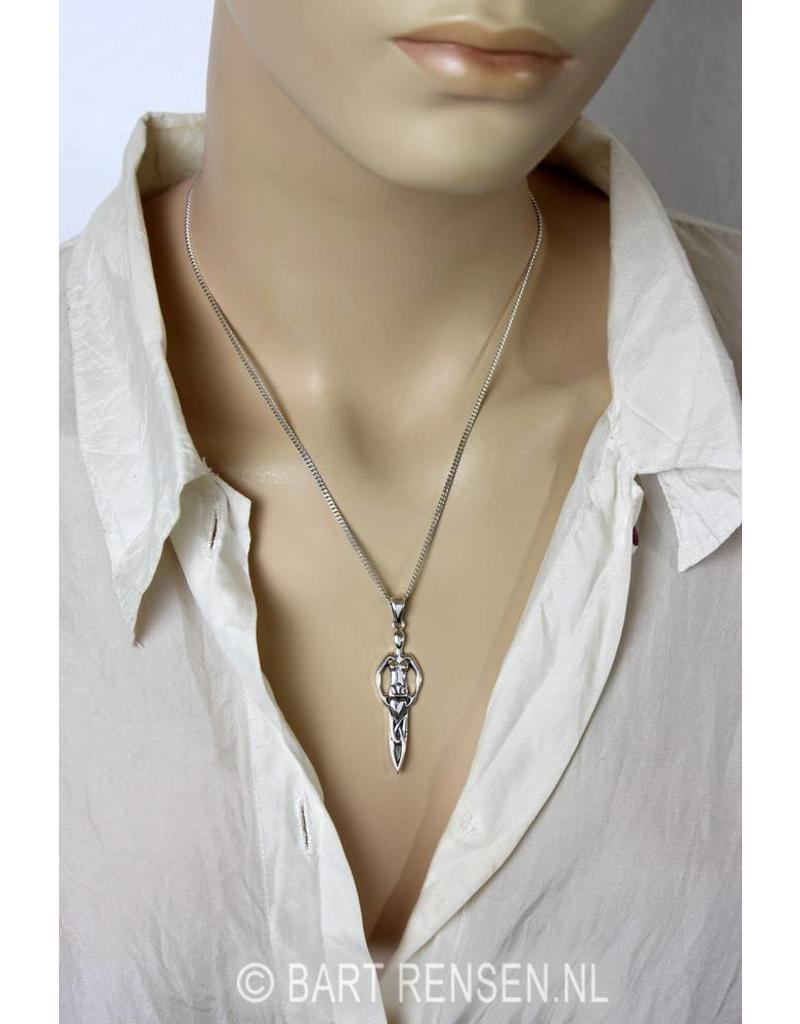 Danu goddess Pendant - sterling silver