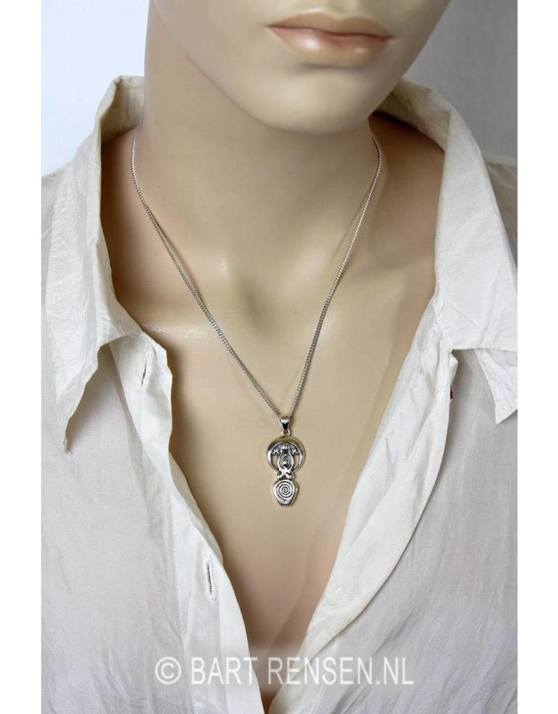 Sterren godin hanger - echt zilver