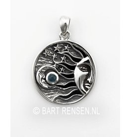Sun Moon And Stars Pendant - silver