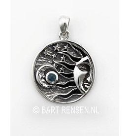Sun Moon And Stars Pendant - silver