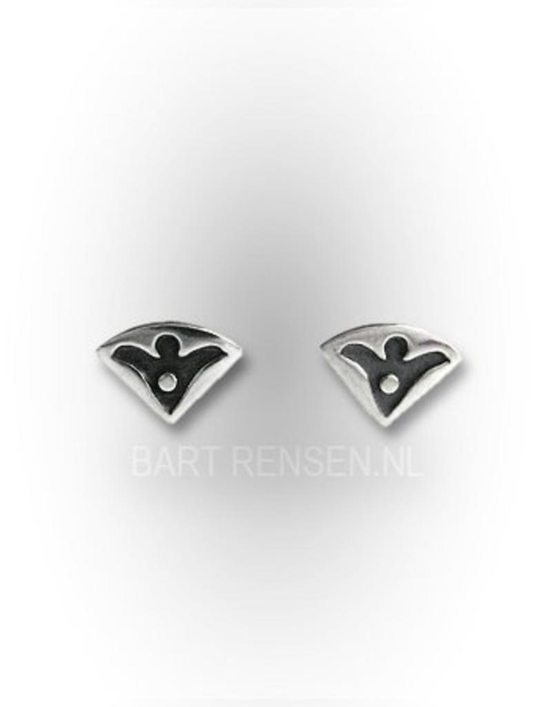 Engel oorknopjes - echt zilver