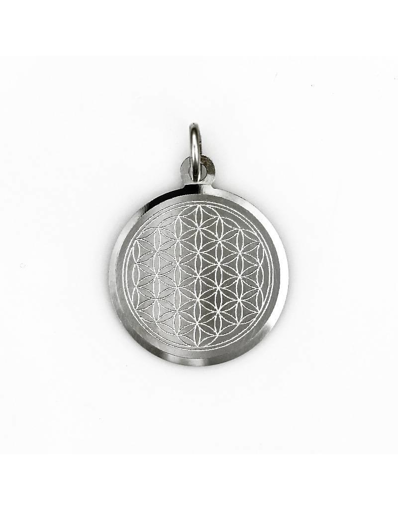 Flower of Life pendant - sterling  silver