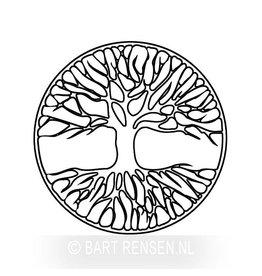 Levensboom gravering