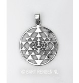 Sri Yantra hanger - echt zilver