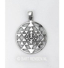 Sri Yantra hanger - zilver