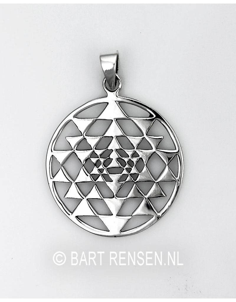 Sri Yantra pendant - sterlingl silver