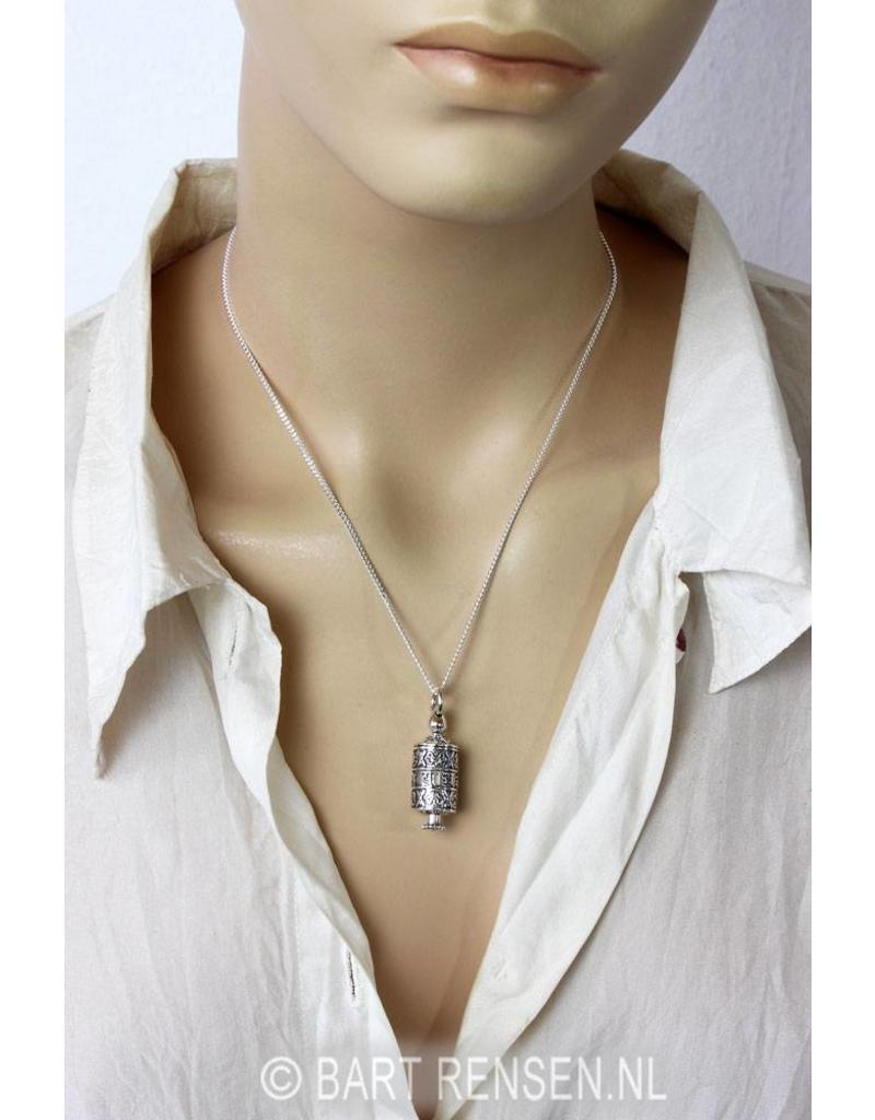 Gebedsmolen hanger - echt zilver