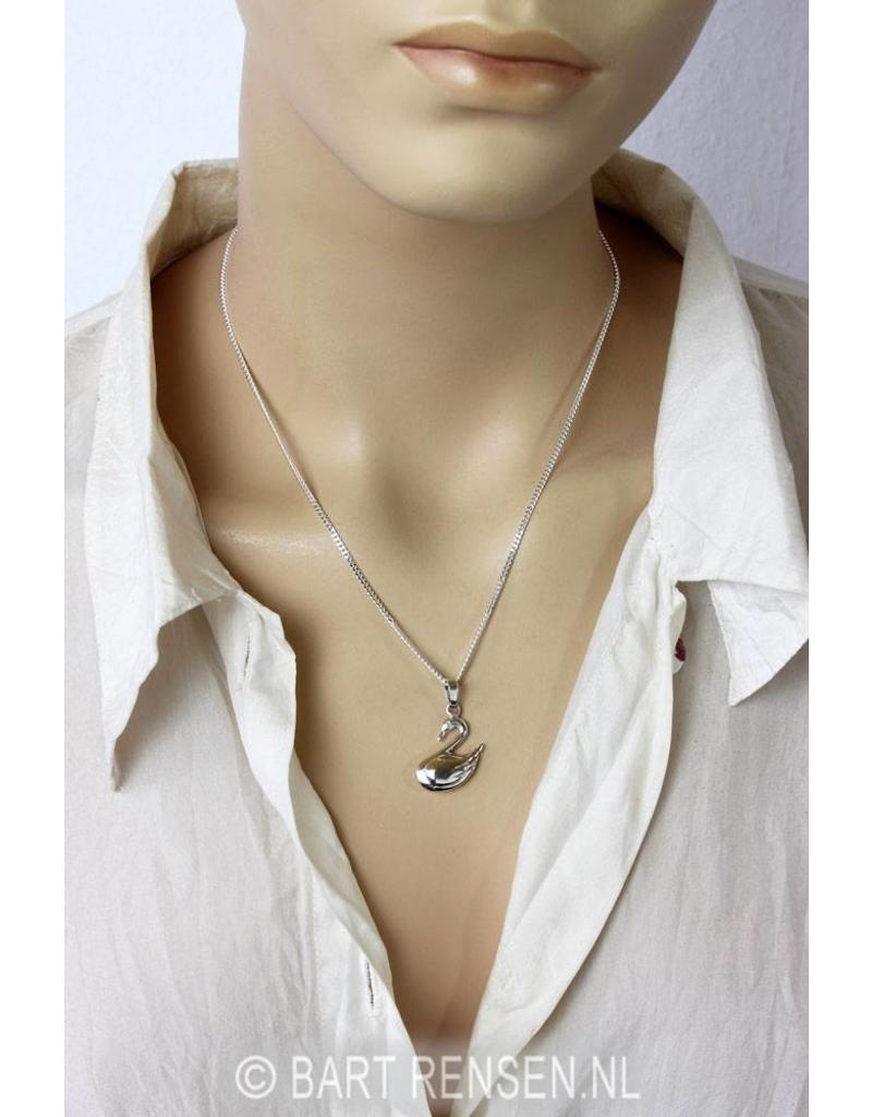 Swan pendant - sterling silver