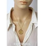 Pentagram Tetragammaton  pendant - 14 carat gold