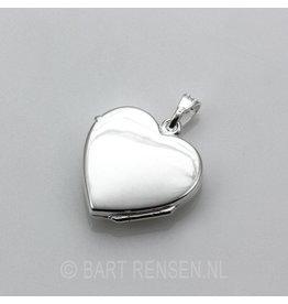 Hart Medaillon - zilver
