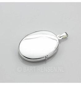 Medaillon Ovaal - zilver