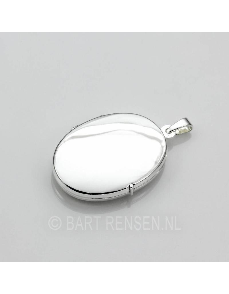 Medallion-pendant - sterling silver-silver