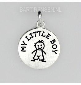 Boy pendant - silver