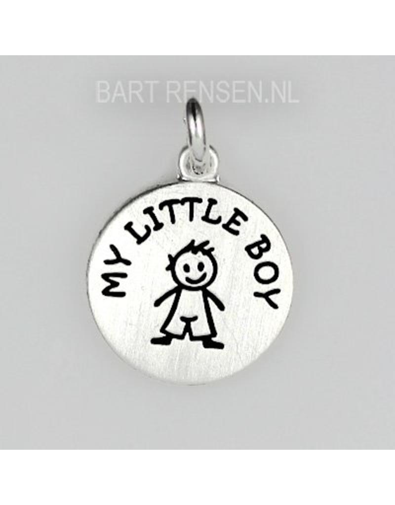 Boy pendant - sterling silver