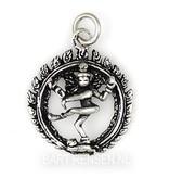 Shiva pendant - sterling silver
