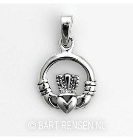 Keltische Claddagh hanger - zilver