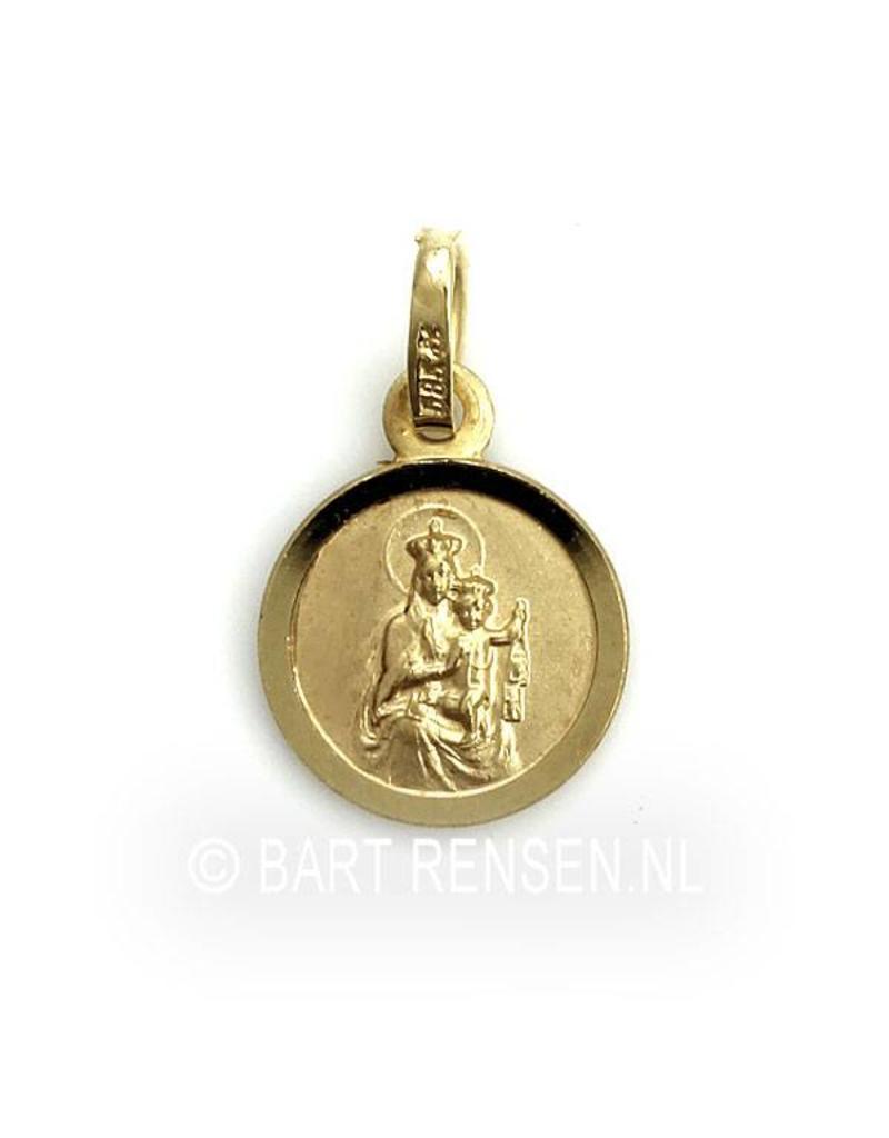 Scapular pendant - 14 kt gold