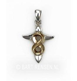 Engel Lemniscaat  hanger - zilver