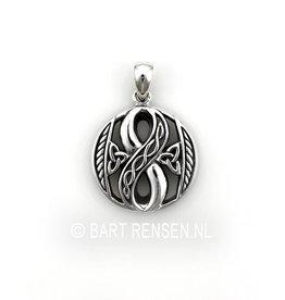Lemniscaat - Infinity hanger - zilver