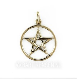 Golden Pentagram pendant -