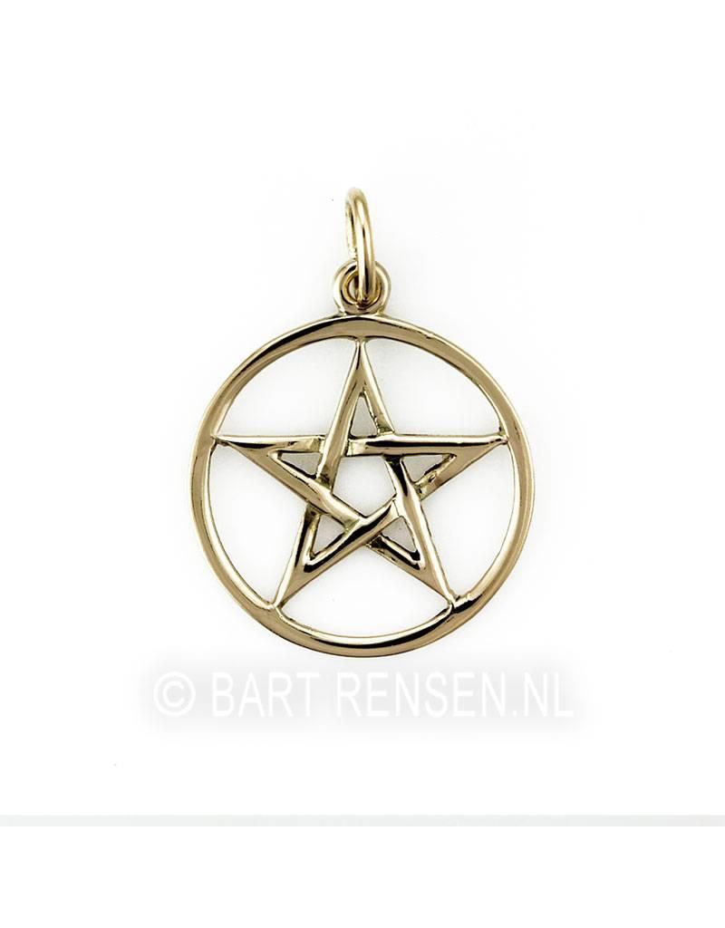 Pentagram hanger - 14 / 18 krt goud