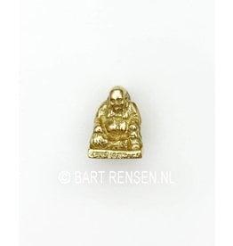 Laughing Buddha pendant - gold