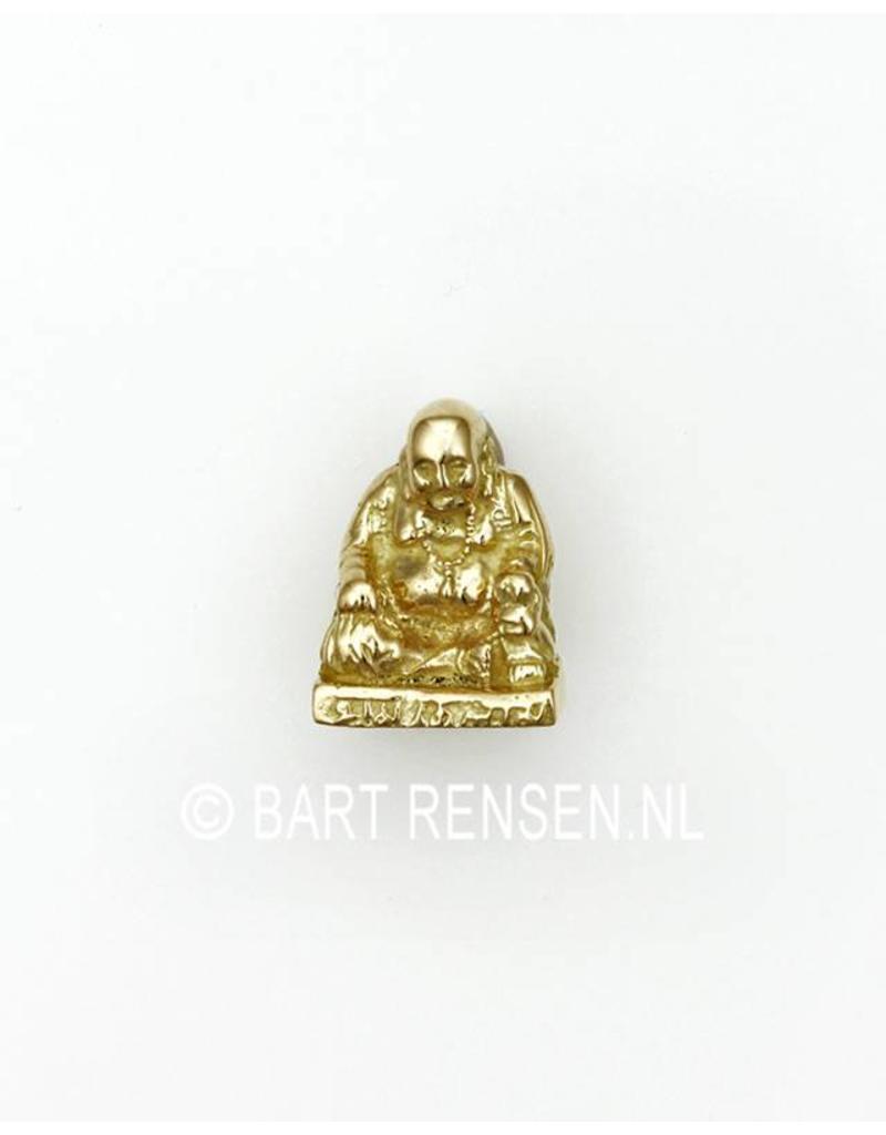 Laughing Buddha pendant - 14 carat gold