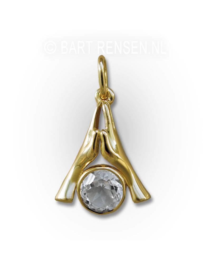 Namasté pendant - 14 carat gold