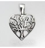 Levensboom Hart hanger-echt zilver